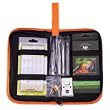 BENECREAT 53 PCS Tool Kit Outil à Bois Professionnel Pyrogravure Ensemble de brûleur à Bois pour débutant Adulte Artisanat débutant avec étui | 33 Conseils | 2 pochoirs | 12 Crayons