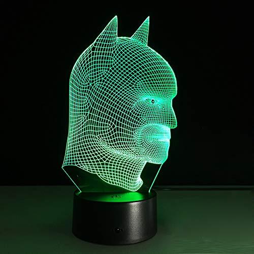 wangZJ 3d Illusion Lampe Nachtlichter / 3d Weihnachtsgeschenk Nachtlicht / 7 Farbwechsel Dekor Lampe/Handwerk/Geburtstagsgeschenk/Batman