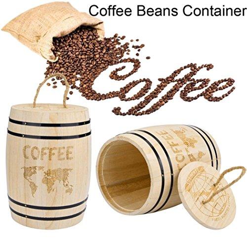 Winkey Coffee Bean Behälter, groß Kanister Organizer Holz Luftdichter Behälter Aufbewahrung für...