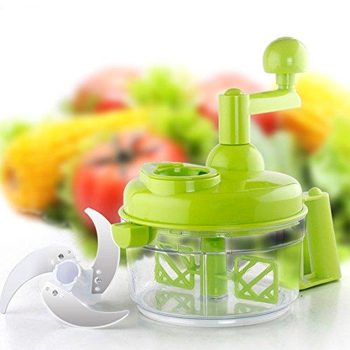 Tenta Küche 800ml Hand Kurbel Manuelle Lebensmittel Chopper / Fleischwolf / Gemüse Dicer und Fleischwolf / Obstschneider mit Eiabscheider