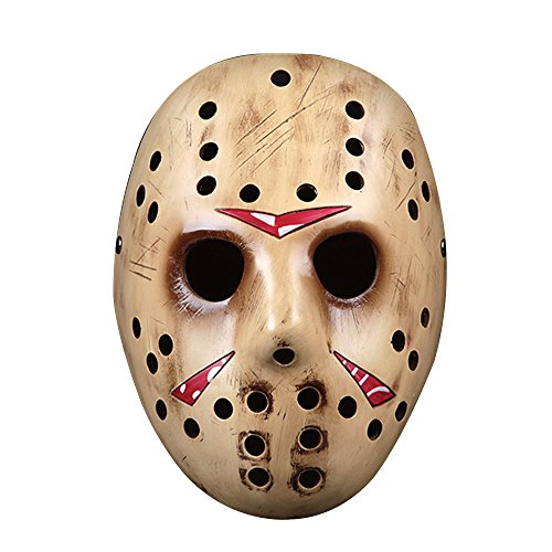 k Harz Film Edition Thema Collector Maske Halloween für Geschenk Cosplay Masquerade Kostüm Party Jason - Or ()