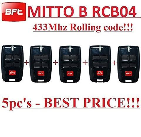 Telecommande Bft 02 - 5 X BFT MITTO B RCB04 R1