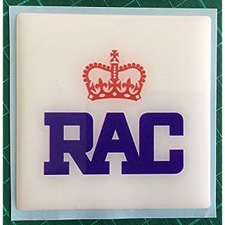 RAC DOMED RESIN SQUARE CAR AUTO BADGE CLASSIC CAR RETRO ROYAL AUTOMOBILE CLUB