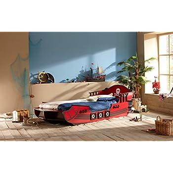 demeyere 249501 piraten bett crazy shark mdf 90 x 190 200 cm rot k che haushalt. Black Bedroom Furniture Sets. Home Design Ideas