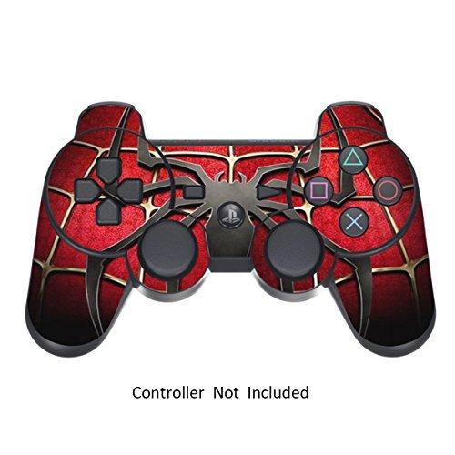PlayStation 3 PS3 Controller Sticker - Aufkleber Schutzfolie Skin für Sony Playstation DualShock 3 Wireless Controller Widow Maker Black -