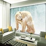 BIZHIGE Benutzerdefinierte 3D Mural Nette Eisbär Wohnzimmer Dekoration Tapete Schlafzimmer Hintergrundbild Benutzerdefinierte Mural-360 × 230 cm