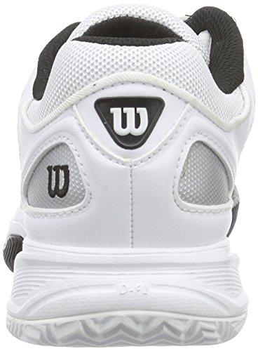 Wilson TOUR VISION IV Damen Tennisschuhe Mehrfarbig (White/Silver/Black)