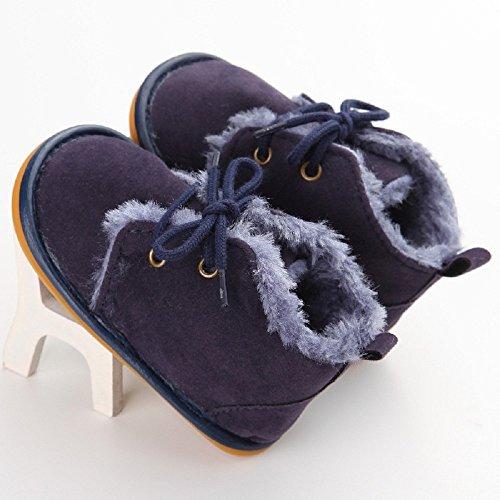 Baby Winter Warme Schuhe, Auxma Kleinkind Säuglings Schnee Stiefel Schuhe Prewalker Krippe Schuhe Krabbelschuhe (11(0-6M), Braun) Dunkelblau
