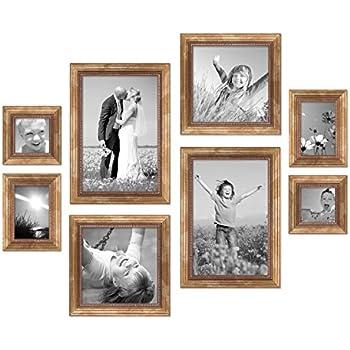 Set da 8 cornici oro barocco antico, ogni paio da 10x10, 10x15, 20x20 e 20x30 cm, accessori inclusi, cornici per foto / cornici barocche