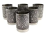 #5: Rudramukhi Steel Glass Set-6 Pieces