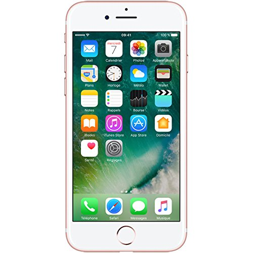 Apple iPhone 7 Smartphone Libre Oro Rosa 128GB (Reacondicionado Certificado)