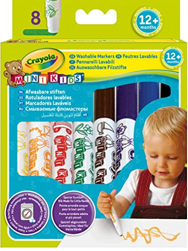 Crayola Mini Kids - Loisirs Créatifs - 8 feutres lavables - dès 1 an 5010065083240
