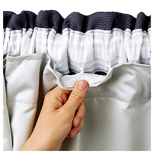 [hachette] 66″ x 90″ BLACKOUT THERMAL CURTAIN LININGS READY MADE 3 PASS INSULATED *INCLUDES CURTAIN HOOKS*