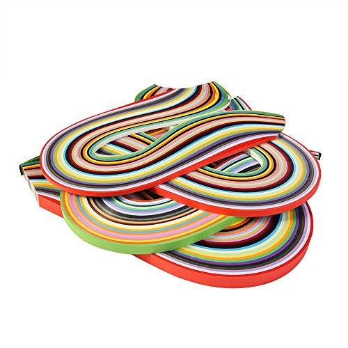 Outus 26 Farben 1040 Strips Papier Quilling Streifen Papierbreite Set, 3/5/7/10 mm, 4 Stück