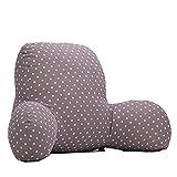 Colorfulworld Lendenkissen Stützkissen Bedrest Weich Plüsch Kissen für Auto, Bett, Büro-Stuhl und Sofa (65x40x26cm) (01)