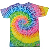 Colortone - Unisex Batik T-Shirt 'Rainbow' / Saturn, M