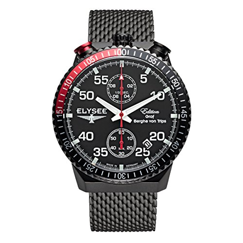 Elysee Mens Watch Graf Berghe von Trips Rally Timer I Chronograph 80522MM