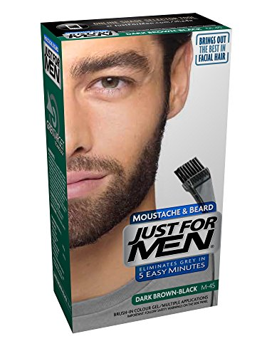 Just For Men Pflege Brush In Color Gel für Bart, Schnurrbart, Schwarzbraun, (Bärte Schnurrbart)