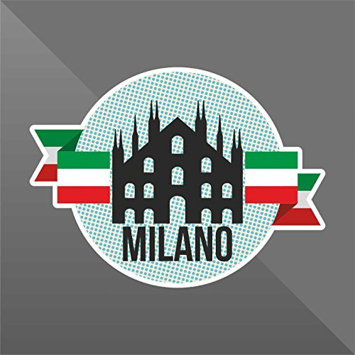 Sticker Milano Milan Milán Mailand Italia Italy Italie Italien - Decal Cars Motorcycles Helmet Wall Camper Bike Adesivo Adhesive Autocollant Pegatina Aufkleber - cm 10