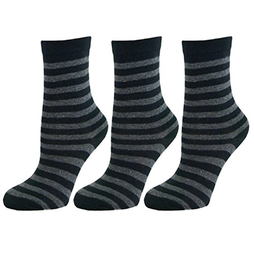 Mens Thin Stripe Ankle Socks Grey (3 Pack) (Sock Show Pack No Zwei)