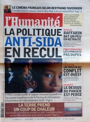 HUMANITE (L') [No 18749] du 24/11/2004