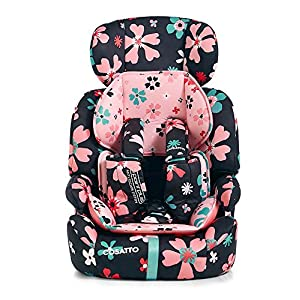 Cosatto Zoomi Car Seat Group 123, 9-36 kg, Paper Petals Maxi-Cosi Interactive visual and audible feedback when the pearl is correctly installed with the maxi-cosi family fix base in the car Spring-loaded, stay open harness to make buckling up your toddler easier as the harness stays out of the way Simultaneous harness & headrest adjustment can be operated with one-hand 12