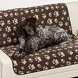 my fellow XXL Hundedecke Haustierdecke Wasserdicht Waschbar 100x150 OekoTex Pfoten Braun f. Auto Couch Sofa Outdoor