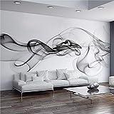 NNKKBH Benutzerdefinierte Fototapete Moderne 3D Wandbild Tapete Schwarz Weiß Rauch Nebel Kunst Design Schlafzimmer Büro Wohnzimmer Tapeten,230×350