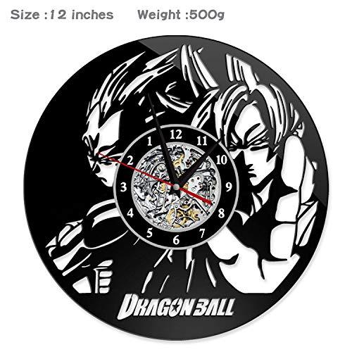 wczzh Dragon Ball Z Anime Sun Wukong Schallplatte Kreative Einfache Moderne Wanduhr Persönlichkeit Retro Vintage Uhr Geschenk (Z Ball Dragon Lp)