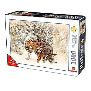 Deico Games Puzzle 75987/AN 02 - Puzzle (1000 Piezas), diseño de Tigres