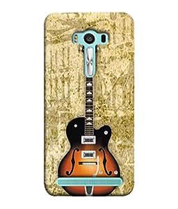 PrintVisa Acoustic Guitar 3D Hard Polycarbonate Designer Back Case Cover for Asus Zenfone 2 Laser ZE550KL (5.5 Inches)
