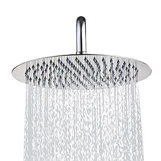 ANTFEES 8 Zoll Raindance Duschkopf Regendusche 304 Edelstahl Duschkopf poliert Spiegeleffekt hochglänzend(20cm)