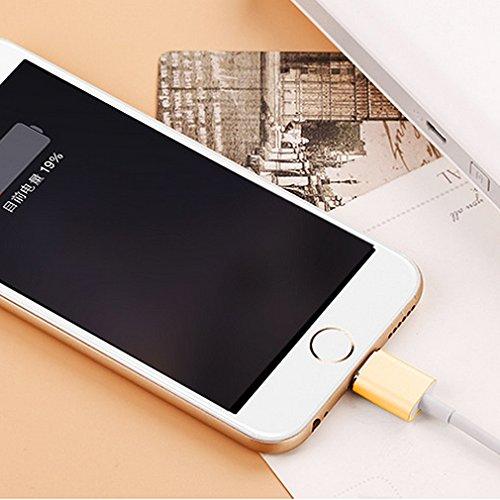 First2savvv oro Super Forte Cavo Lightning con calamita. Connessione magnetica per Apple iPhone 7 6S/6 Plus, iPhone 5S/5C/5, iPad Pro/Air 2, iPad Mini 4. 1,2 m e 2.4 A CTX-A-BB13 2 X oro