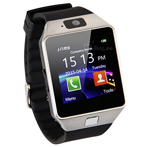 Zomtop DZ09 Bluetooth Smart Watch Wristwatch with Camera Sync to Android IOS Smart Phone Samsung S5 / Note 2 / 3 / 4,nexus 6,htc,sony,huawei and Other Android Smartphone(Silver)