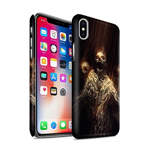 Offiziell Chris Cold Hülle / Matte Snap-On Case für Apple iPhone X/10 / Gevatter Tod Muster / Dämonisches Tier Kollektion Ghouls der Furcht