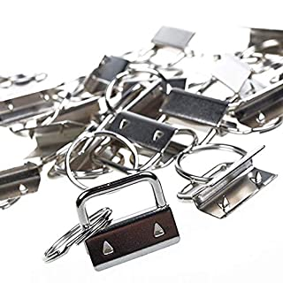 CRIVERS 30PC Key Fob Hardware and Wristlet Sets with Key Rings (1 inch wide)