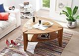lifestyle4living Couchtisch, Wohnzimmertisch, Tisch, Salontisch, Kaffeetisch, Beistelltisch, Sofatisch, Telefontisch, Asteiche, massiv, geölt