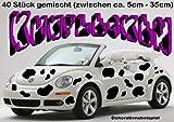 Unbekannt Autoaufkleber-Wandtattoo Komplett-Set ***KUHFLECKEN*** - 50 Stück gemischt - 5cm bis 35cm - freie Folienfarbwahl!