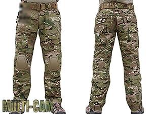 Tir Militaire EDR hommes G2Gen2Camouflage Combat Pantalon avec genouillères MultiCam MC pour armée tactique pour airsoft/paintball