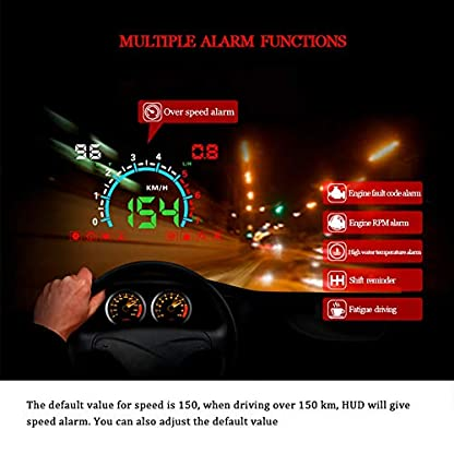 Head-Up-Display-Projektor-E350-HUD-Universal-58in-Auto-Head-Up-Display-Tacho-ODB2-Windschutzscheibe-Projektion-fr-Auto-Navigation-Andere-Fahrzeuge
