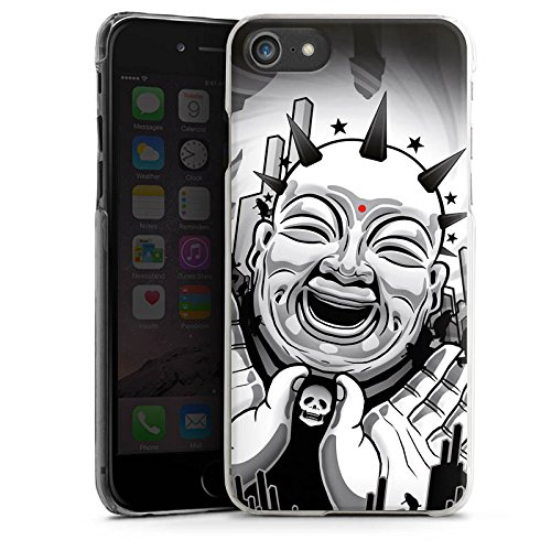 Apple iPhone X Silikon Hülle Case Schutzhülle Buddha Schwarz Weiß Kunst Hard Case transparent