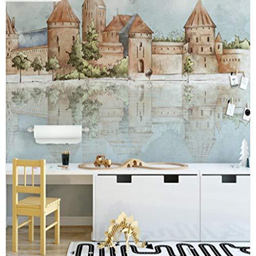 Fototapeten Neue Einfache Kleine Stadt Muster Wohnzimmer Sofa Nachttisch Wandbild Schlafzimmer Hintergrund Wand, 500 * 280 Cm (B * H) -