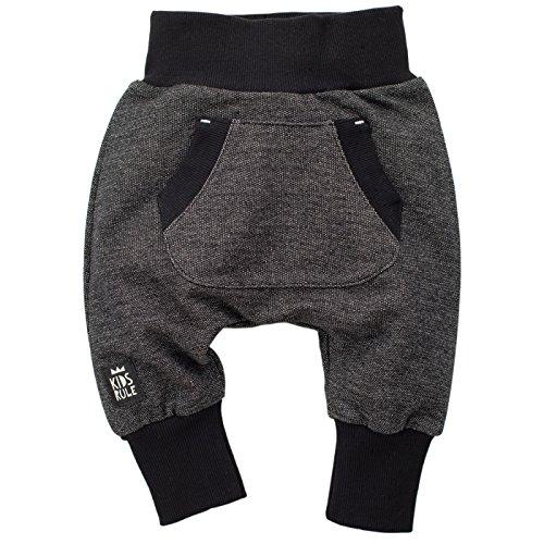 Pinokio - Happy Day - Baby Hose 100% Baumwolle-schwarz - Jogginghose, Haremshose Pumphose Schlupfhose- elastischer Bund, unisex (86)