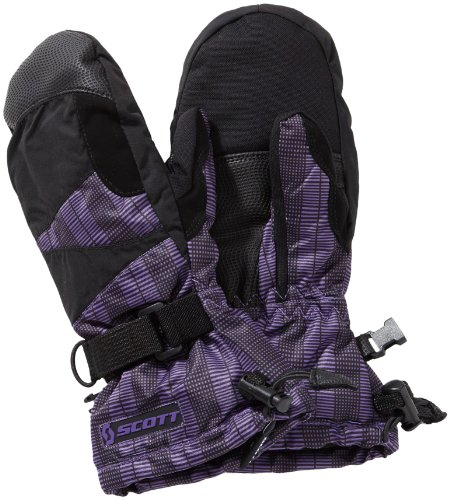 Scott Kinder Fausthandschuhe 720 12.5cm Handschuh, Schwarz-Lila, S - Scott Winter-handschuhe Junior