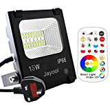 Jayool LED Floodlight Outdoor,15W Colour Changing Flood Lights with Remote, 120 RGB Colours