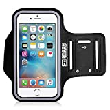 """ATA® Wasserfestes Sport-Armband iPhone, Android - Mit Schlüsselhalter, Kabelfach, Kartenhalter für iPhone 7/6/6S, Galaxy S8/S7/S6/, iPhone 5/5S/SE Und alle Handys bis zu 5.5"""" - Lifetime Garantie."""