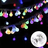 [Fernbedienung & Timer] 50 LEDs Globe Lichterkette,KINGCOO LED Kugel Lichterkette Globe String Licht Sternenlicht,Innen- und Außen Deko Glühbirne Batteriebetriebene mit 8 Mode Ambiance...