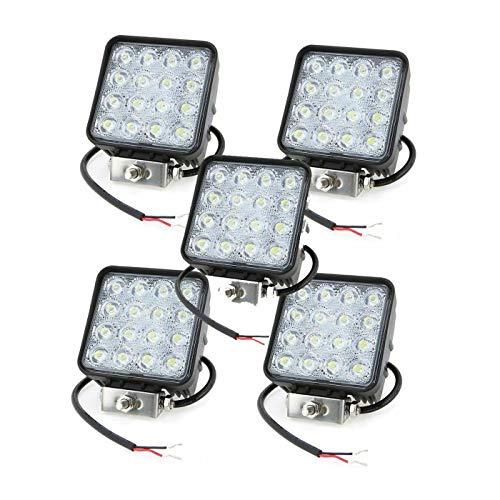 081 Store - 5X 48W LED Luce Faro 12V 24V Lampada da Lavoro FARETTO Auto Barca Camion KLW SUV