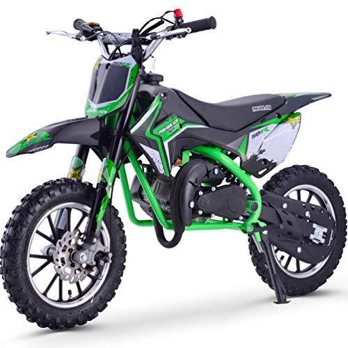 Renegade 50R 49cc Petrol Kids Mini Dirt Bike Moto Cross Scrambler - Green