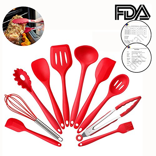 10-piece-silicone-cooking-set-hansemay-kitchen-utensils-contain-tongs-spatula-brush-soup-spoon-noodl